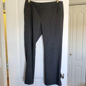 Grey Wide Leg Dress Pants